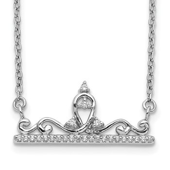 14k White Gold Diamond Tiara Necklace