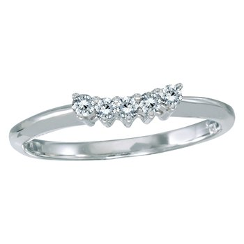 14k White Gold 0.15 Ct Diamond Wrap Band