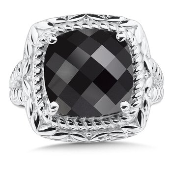 Sterling Silver Onyx Cocktail Ring