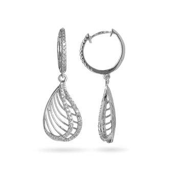 14K WG Diamond Pear Shape Fashion Earring