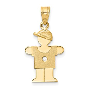 14k AA Diamond Pendant