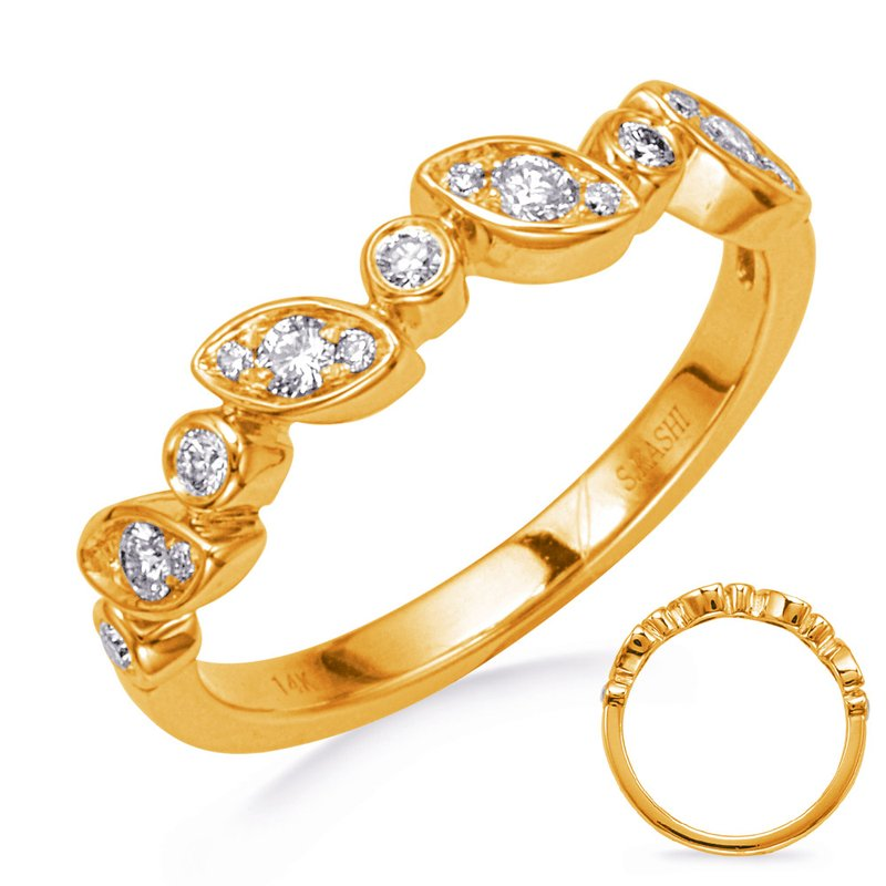 S. Kashi & Sons Bridal Yellow Gold Diamond Wedding Band