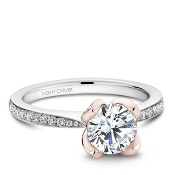 Noam Carver Floral Engagement Ring B019-01WRA