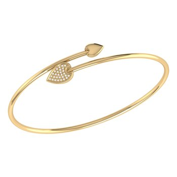 Raindrop Bangle in 14 KT Yellow Gold Vermeil on Sterling Silver