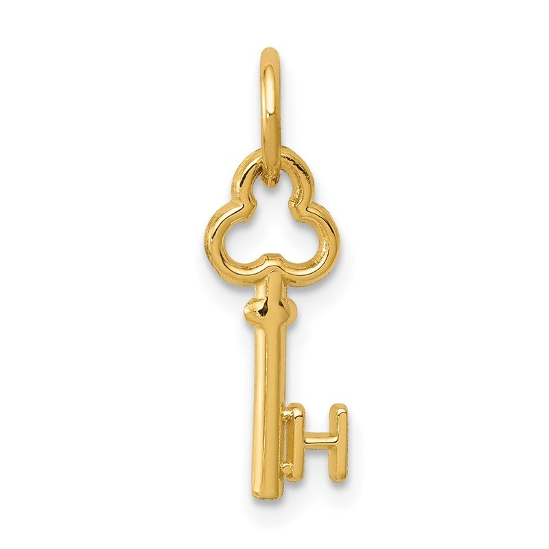 Quality Gold 14k Key Letter H Initial Charm