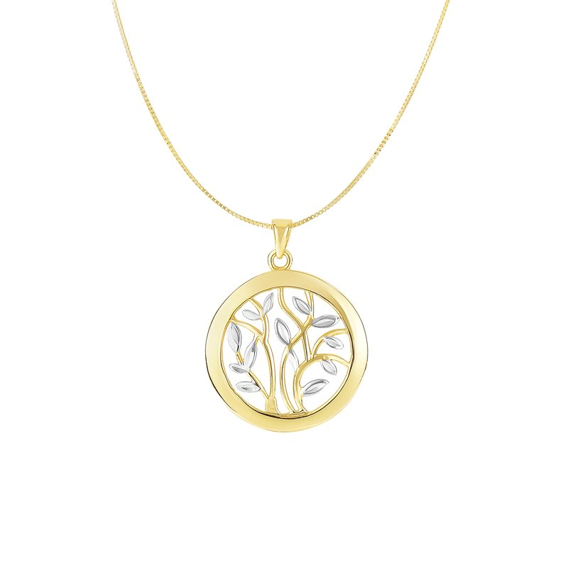 Royal Chain 14K Gold Tree of Life Circle Necklace