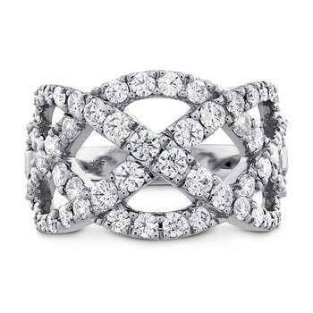 1.5 ctw. Intertwining Diamond Right Hand Ring
