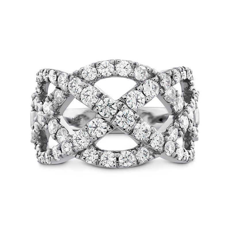 Hearts on Fire 1.5 ctw. Intertwining Diamond Right Hand Ring