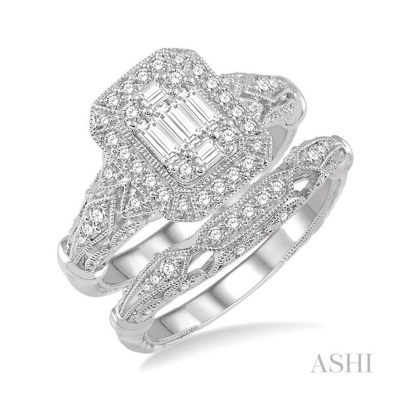 Barclay's Signature Collection fusion diamond wedding set
