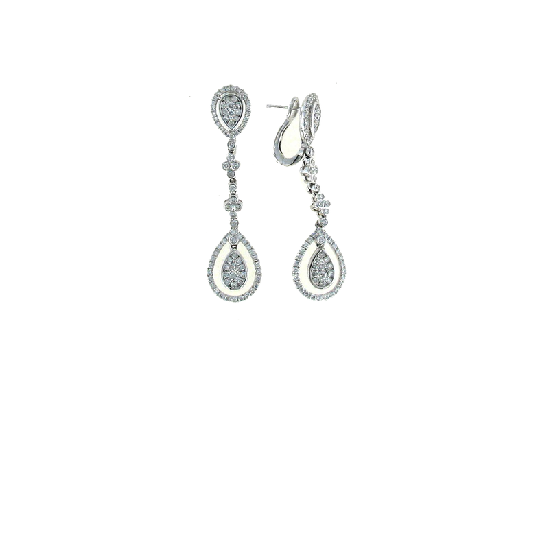 Roberto Coin 18Kt Gold Diamond Drop Earrings