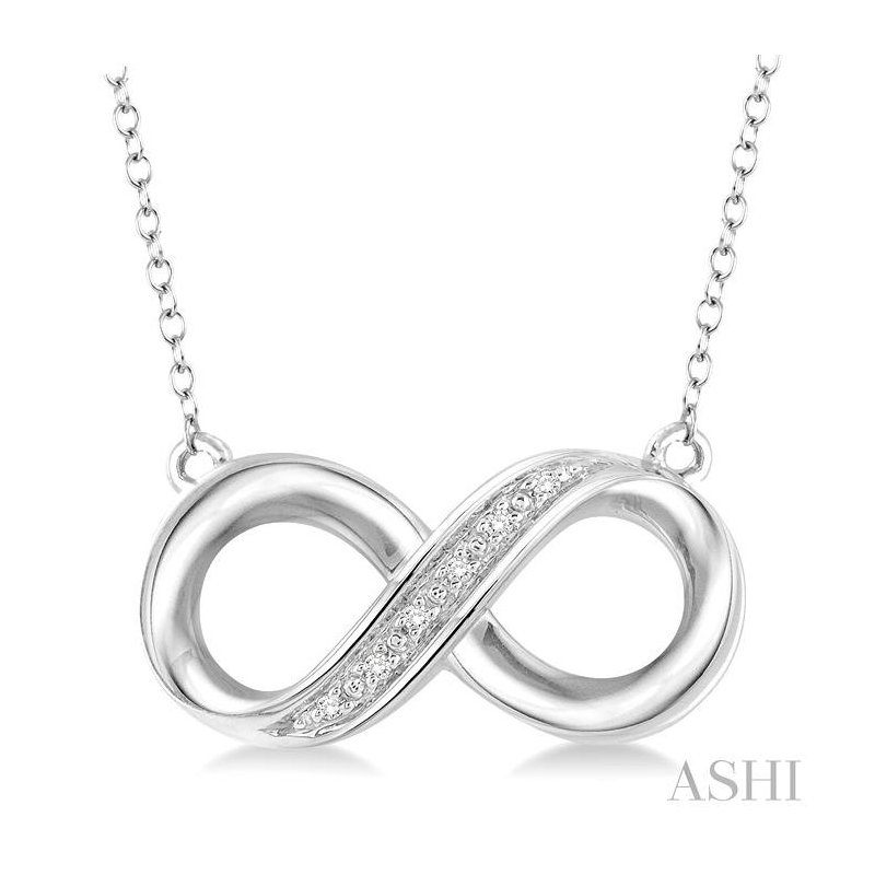Barclay's Signature Collection silver infinity diamond pendant