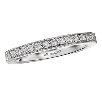Straight Diamond Wedding Band