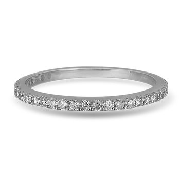 14K WG Diamond almost eternity Band in Prong Setting. 1/3 Cts