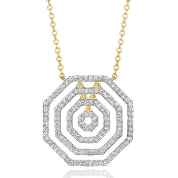 Yellow gold diamond layer Hero necklace