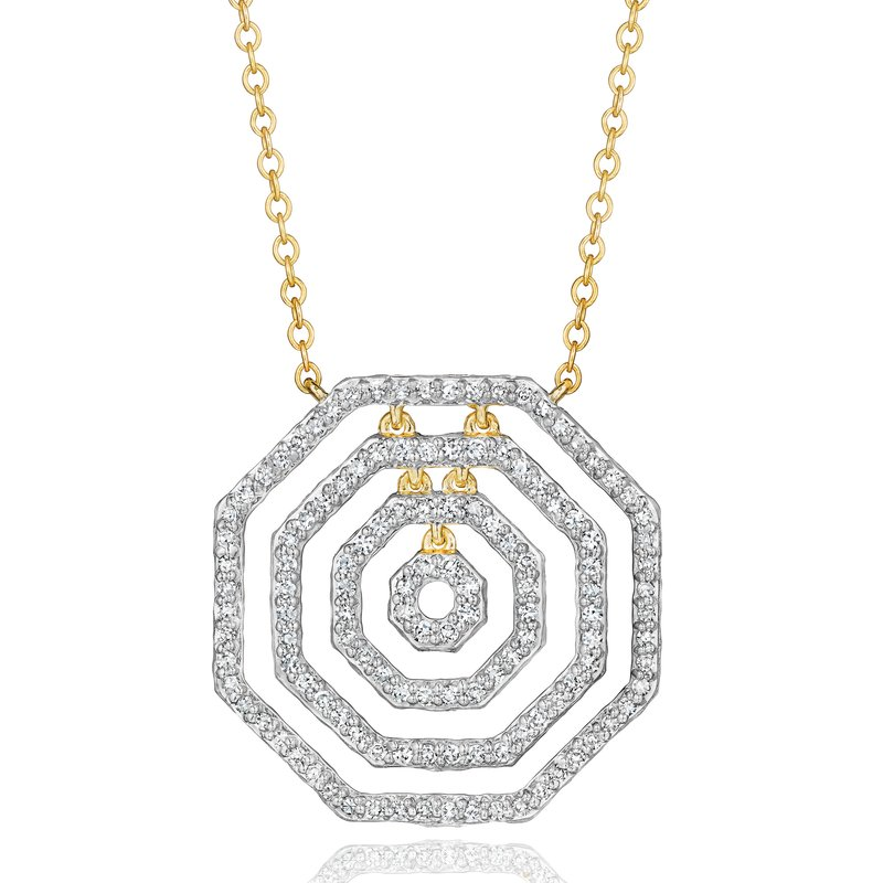 Phillips House Yellow gold diamond layer Hero necklace