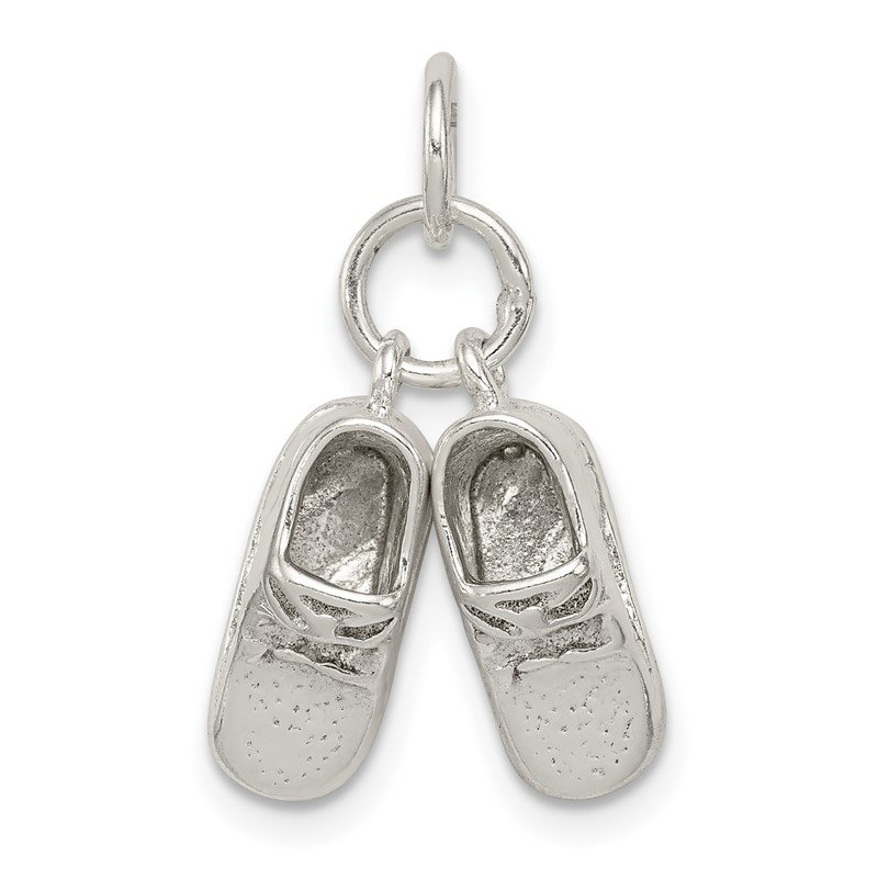Quality Gold Sterling Silver Baby Shoes Charm