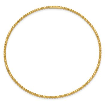 14K Beaded Slip-on Bangle