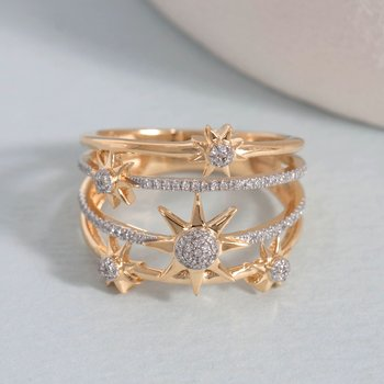 Bound For The Stars Gold Ring