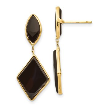 14k Onyx Dangle Earrings
