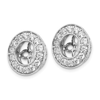 14kw True Origin Lab Grown Diamond VS/SI, D E F, Earring Jackets