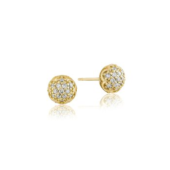 Simple Pavé Dew Drop Studs
