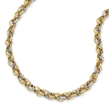 Leslie's 14k Two-tone Gold Necklace