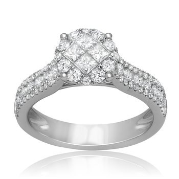 Geometric Diamond Cluster Ring