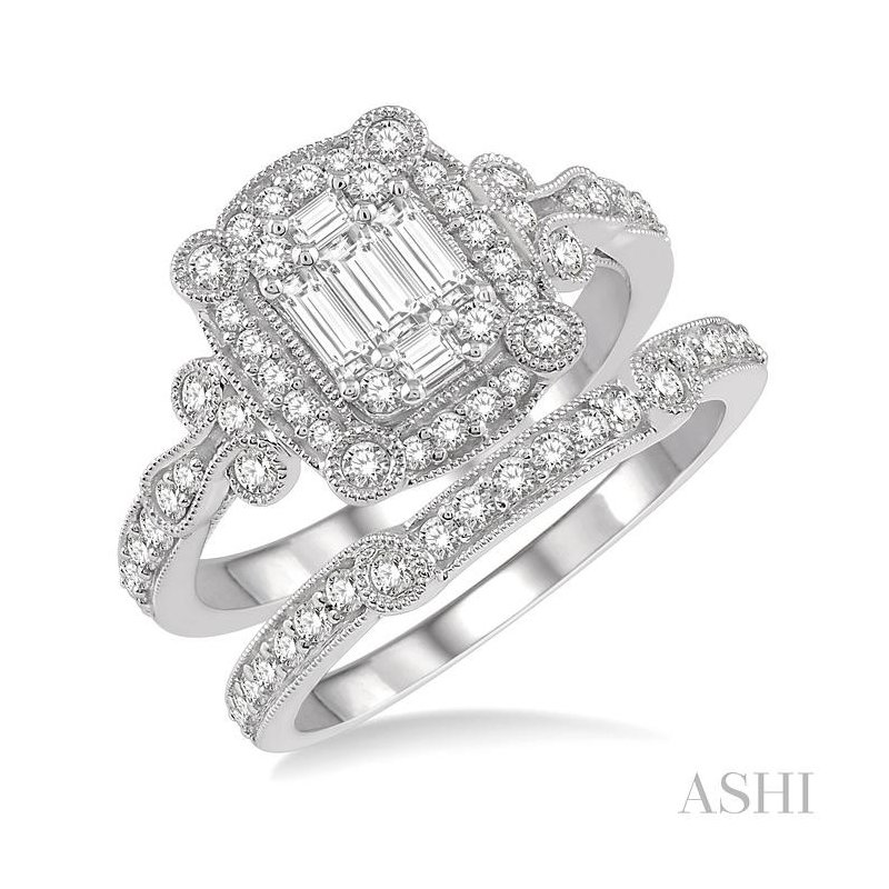 Crocker's Collection fusion diamond wedding set