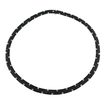 18Kt Gold Black Sapphire And White Diamond Flex Necklace
