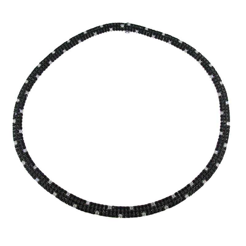 Roberto Coin 18Kt Gold Black Sapphire And White Diamond Flex Necklace