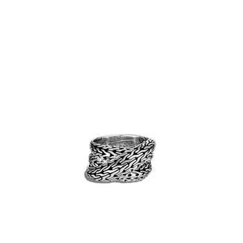Tiga Classic Chain Overlap Ring in Silver