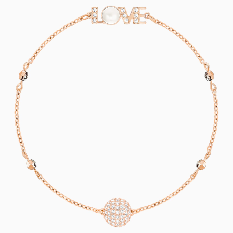 Swarovski Swarovski Remix Collection Emotion Strand, White, Rose-gold tone plated
