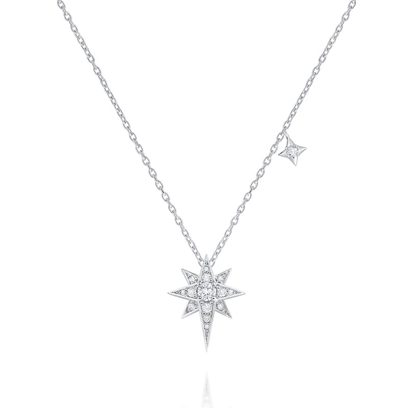 KC Designs 14K Diamond Double Star Necklace