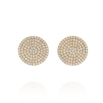 Pave Disc Earrings