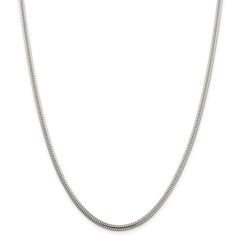 Quality Gold Sterling Silver 3mm Round Snake Chain