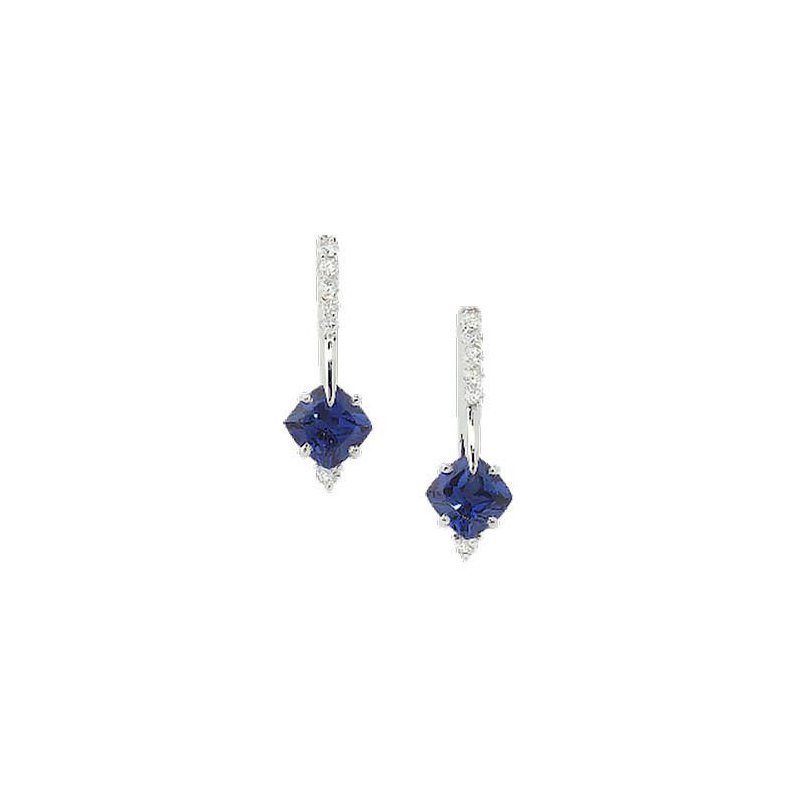 5f76967d3 Chatham Blue Sapphire Earrings-CE2625WBS. Stock # CE2625WBS
