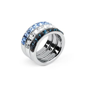316L stainless steel and coloured Swarovski® Elements crystals.