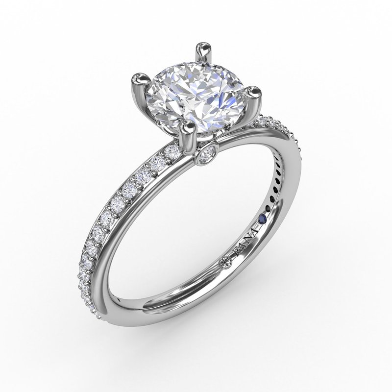 Fana Classic Solitaire Engagement Ring With Diamond Band