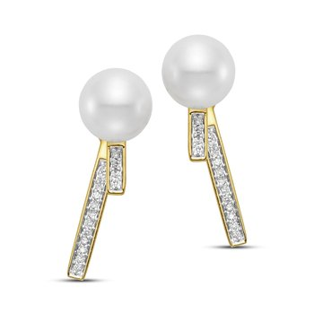 Caprice Pave Bar Earrings