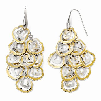 Leslie's Sterling Silver Gold-tone 18k Flash Plated Earrings