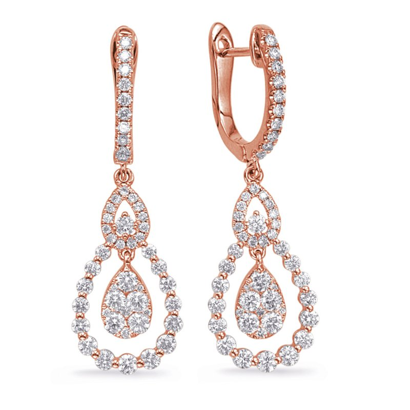 S. Kashi  & Sons Rose Gold Diamond Fashion Earring
