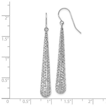 Leslie's 14K White Gold Hollow Dangle Earrings