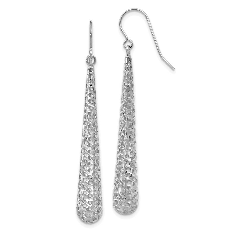 Leslie's Leslie's 14K White Gold Hollow Dangle Earrings