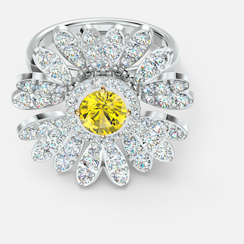 Eternal Flower Ring, Yellow, Mixed metal finish
