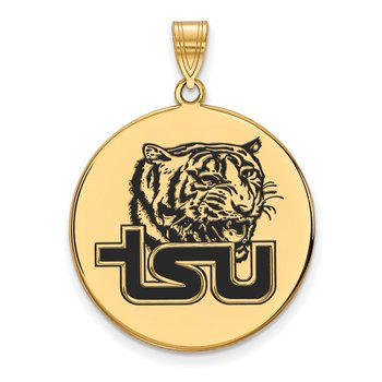 Gold-Plated Sterling Silver Tennessee State University NCAA Pendant