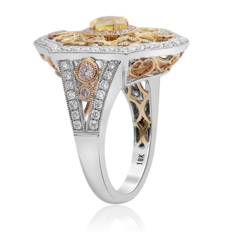 Roman & Jules Tri-Colored Vintage Diamond Ring