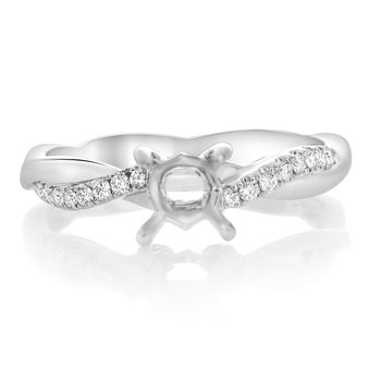 White Gold Twisted Engagement Setting