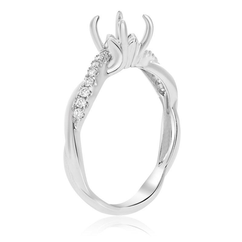 Roman & Jules White Gold Twisted Engagement Setting
