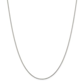 Sterling Silver Rhodium-plated 1.1mm Box Chain