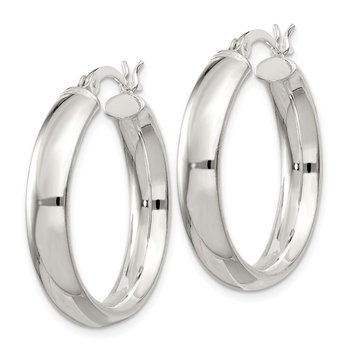 Sterling Silver 5x25mm Hoop Earrings